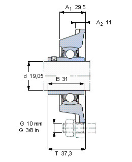 Подшипник YAR 204-012-2FW/VA201 SKF